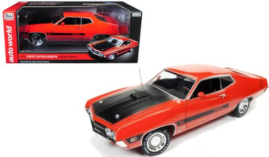"Ford Torino Cobra 1970 ""Twister Special"" 1:18 Rood Ertl Autoworld Limited 1002 pcs."