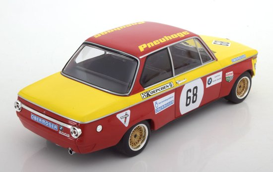 """BMW 2002 No.68 Preis der Nationen, Hockenheim 1970 """"Obermoser""""1-18 Minichamps Limited 450 pcs."""