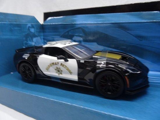 Chevrolet Corvette Z06 2015 Police Highway Patrol 1-24 Maisto