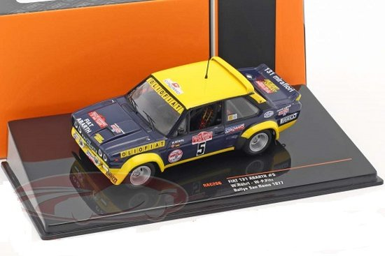 Fiat 131 Abarth #5 Rallye San Remo 1977 Röhrl, Pitz 1:43 Ixo Models