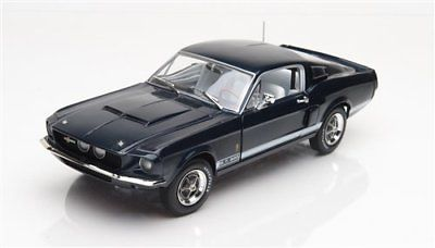 Shelby GT-500 1967 50th Anniversary Blauw 1:18 Ertl Autoworld Limited 1002 pcs.