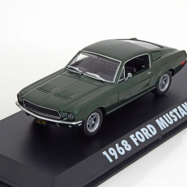 "Ford Mustang GT 1968 ""Bullitt"" Steve Mc Queen ( no Figure )Groen 1-43 Greenlight Collectibles"