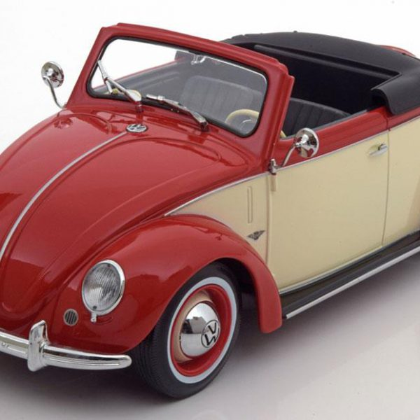 Volkswagen 1200 Hebmüller 1949 Rood/Creme 1-18 KK-Scale Limited 2000 Pieces