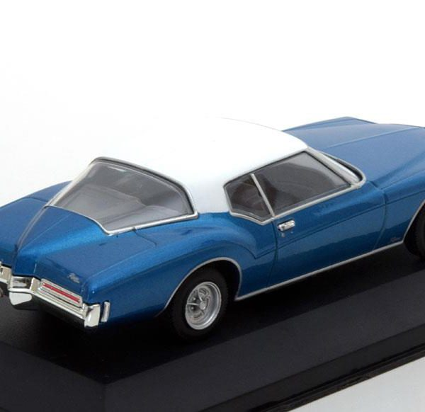 Buick Riviera Coupe 1972 Blauw / Wit 1-43 Whitebox Limited 1000 Pieces