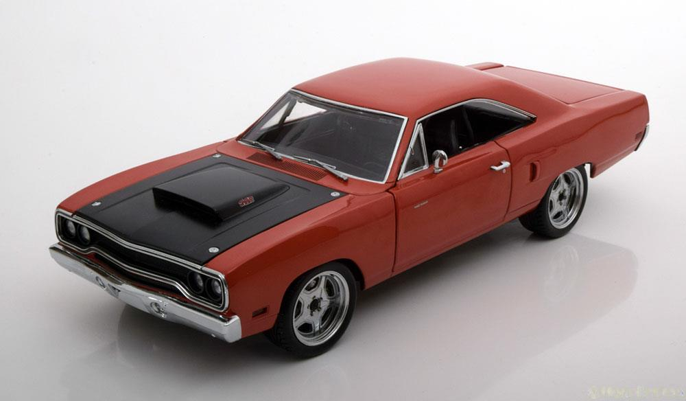 """Plymouth Road Runner 1970 """"Fast & Furious 7"""" Oranje Metallic 1-18 GMP Limited Edition"""