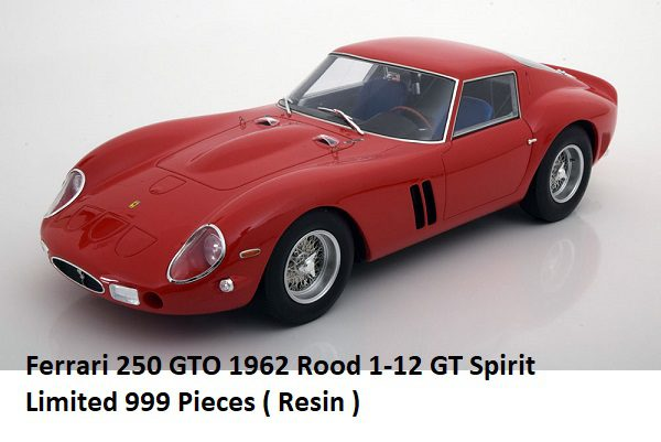 Ferrari 250 GTO 1962 Rood 1/12 GT Spirit Limited 999 Pieces