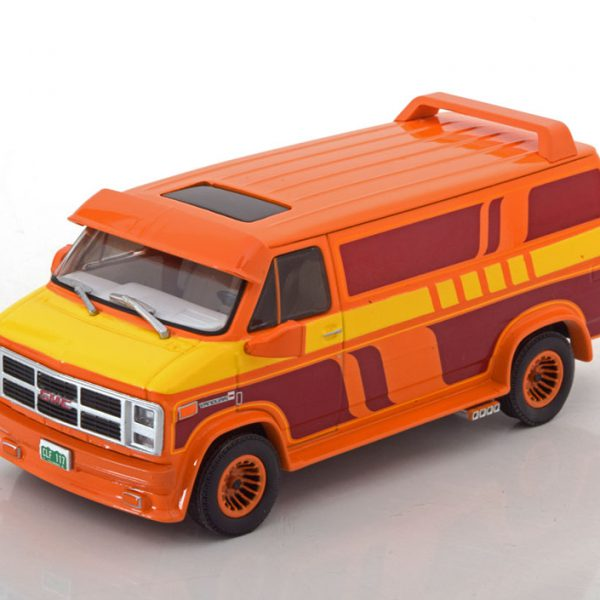 GMC Vandura Custom 1983 orange / yellow / red 1:43 Greenlight Collectibles