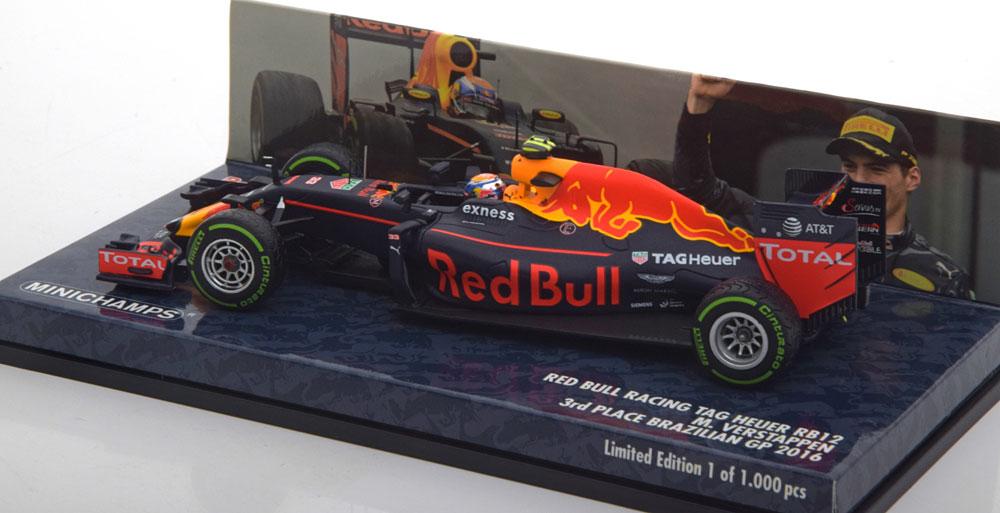 Red Bull Racing RB12 - Max Verstappen - 3e plaats GP Brazilie 2016 1-43 Minichamps
