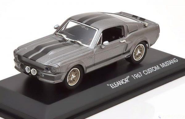 "Shelby GT 500 1967 Mustang ""Gone In 60 Seconds ""Eleanor"" 1:43 Grijs Greenlight Collectibles"