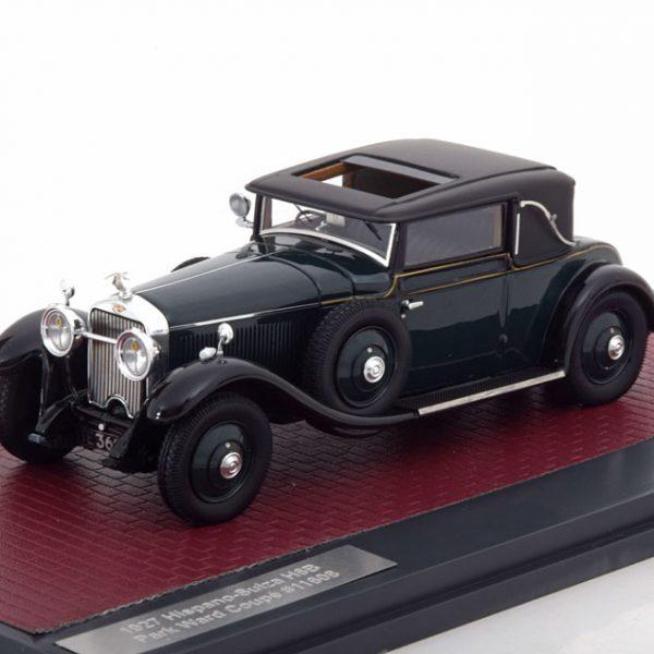 Hispano Suiza Park Ward Coupe H6B RHD 1927 Groen 1-43 Matrix Scale Models Lim 299 Pcs