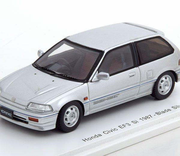 Honda Civic EF3 Si 1987 Zilver 1-43 Spark