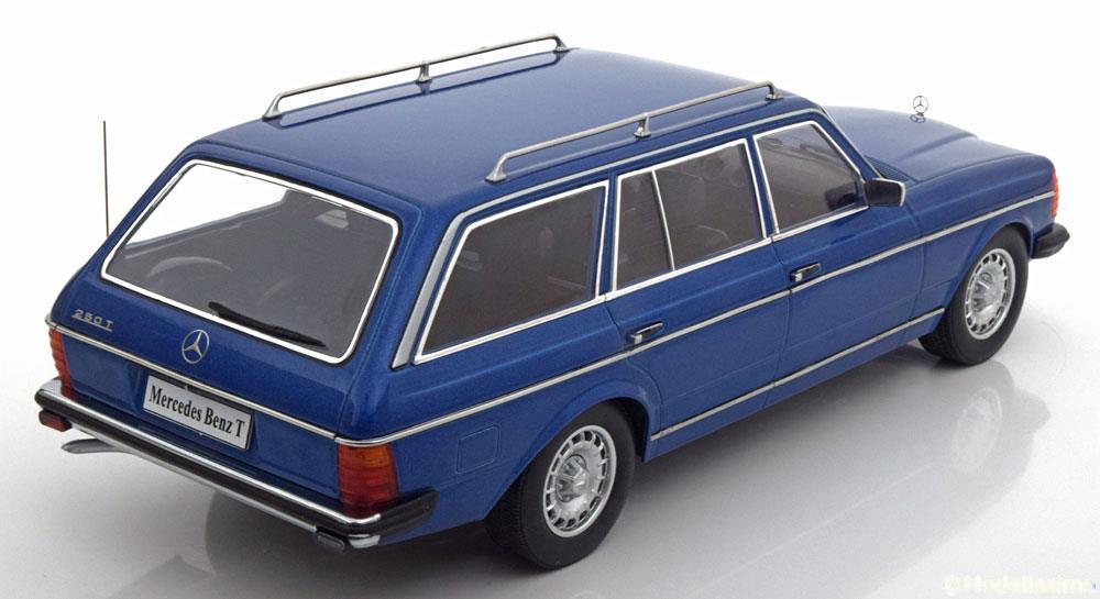 Mercedes-Benz 250T W123 Kombi 1978-1982 Limited 1500 pcs. Blauw 1:18 KK-Scale
