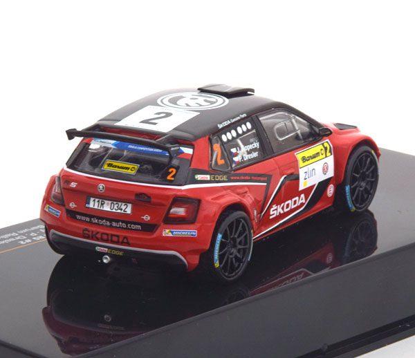 Skoda Fabia R5 No.2, Sieger Rally Barum 2016 Kopecky/Dresler 1-43 Ixo Models
