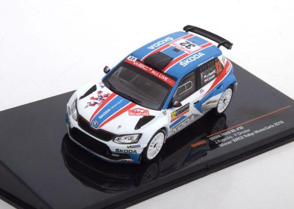 Skoda Fabia R5 No.32, Sieger WRC2 Rally Monte Carlo 2018 Kopecky/Dresler 1-43 Ixo Models