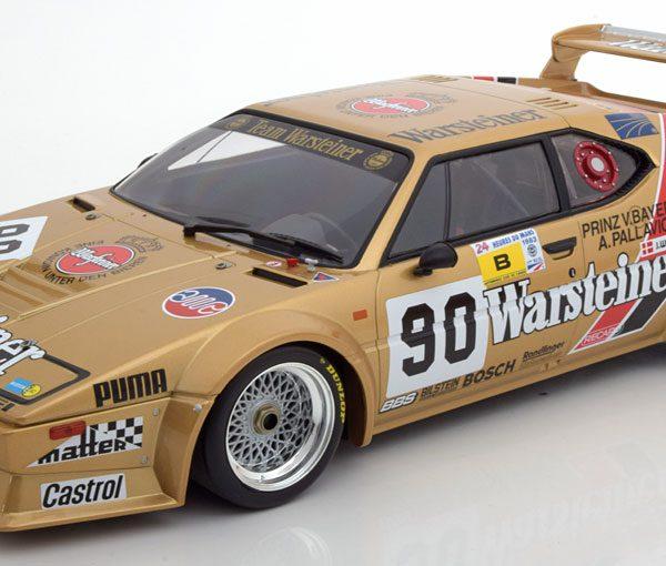 """BMW M1 Gr.B No.90, 24h Le Mans 1983 """"Warsteiner"""" Pallavicini/Winther/von Bayern 1-12 Minichamps"""