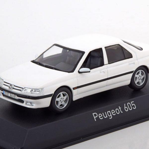Peugeot 605 1998 Wit 1-43 Norev