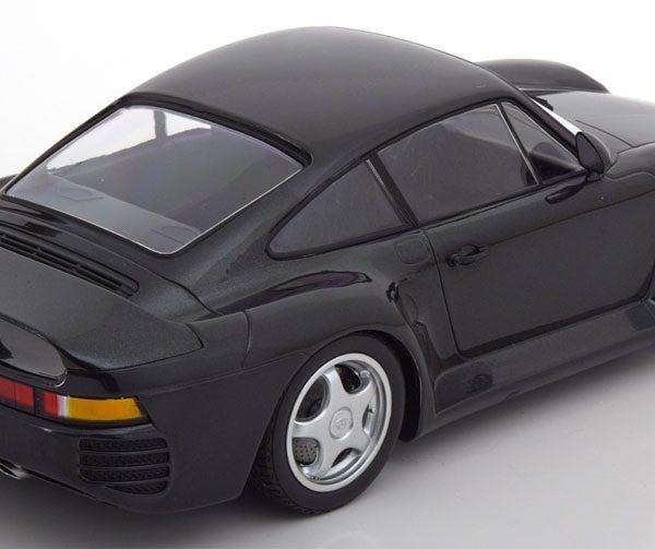 Porsche 959 1987 Donkergrijs Metallic 1-18 Minichamps Limited 600 Pieces
