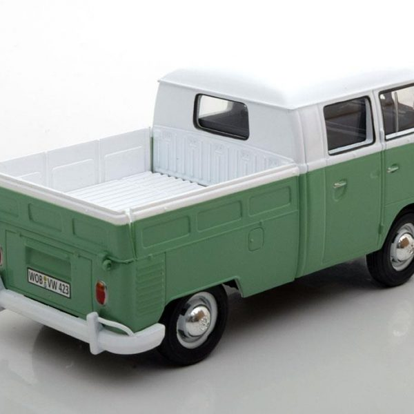 Volkswagen T1 Type 2 Pick Up Wit / Groen 1-24 Motormax