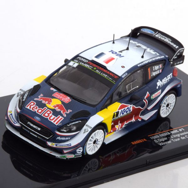 "Ford Fiesta WRC Sieger Tour de Corse, World Champion 2018 ""Red Bull ""Ogier/Ingrassia 1-43 Ixo Models"