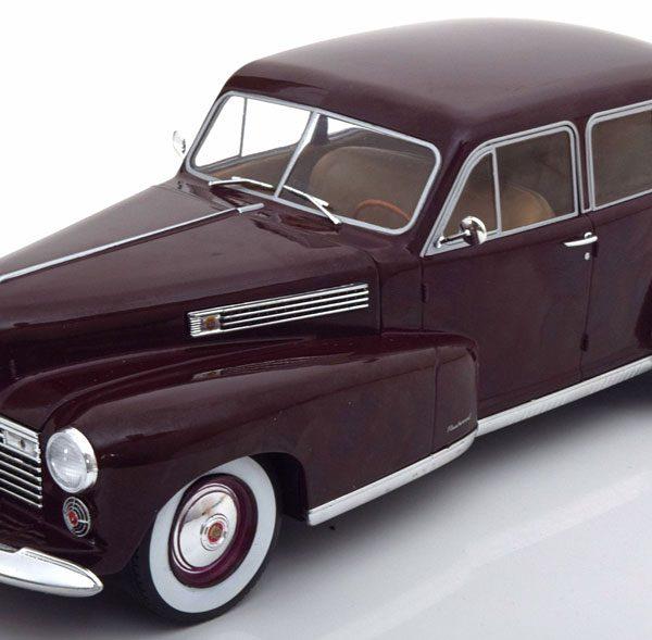 Cadillac Fleetwood Serie 60 Special Sedan 1941 Bordeaux Rood 1-18 MCG Models
