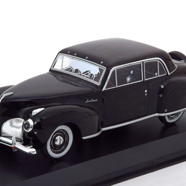 Lincoln Continental *the Godfather 1972* met kogel gaten - 1-43 Zwart Greenlight Collectibles