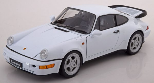 Porsche 964 Turbo Wit 1-18 Welly