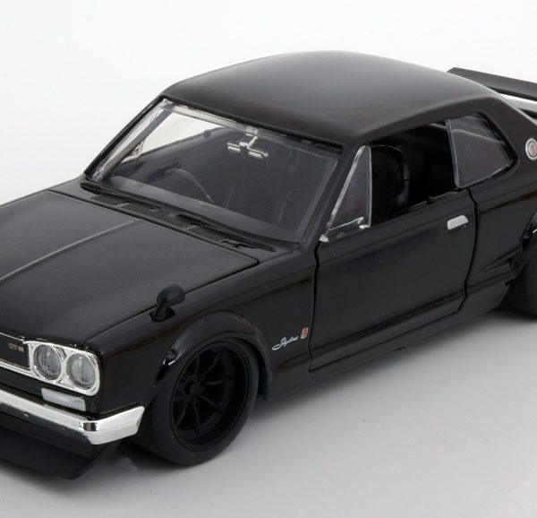 "Nissan Skyline 2000 GT-R Brian ""Fast and the Furious ""1-24 Zwart Jadatoys"