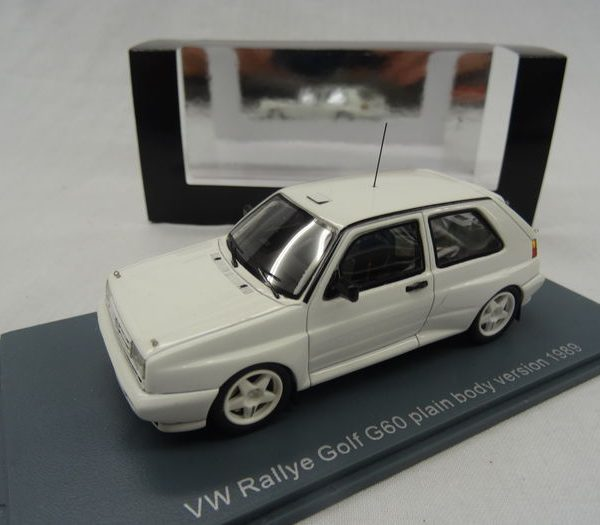 Volkswagen Golf II Rallye G60 Plain Body Version 1989 Limited 100 pcs. Wit 1:43 Neo Scale Models