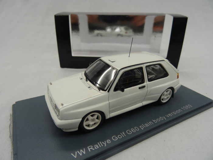 Volkswagen Golf II Rallye G60 Plain Body Version 1989 Limited 100 pcs. Wit 1:43 Neo Scale Models