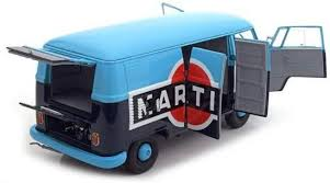 Volkswagen T1b Transporter 'Martini' 1959-1963 Blauw 1:18 Schuco