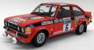 "MiniChamps - 1:18 - Ford Escort I RS1800 ""Cossack"" #6 - Clark + Pegg - Winners RAC Rally 1976 - Limited 630 pcs."