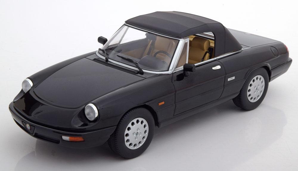 Alfa Romeo Spider 4 Softtop 1993 Zwart 1-18 KK Scale Limited 750 Pieces