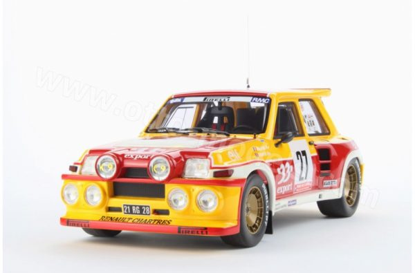 Renault 5 Maxi Turbo 33 Export (Rallye)1985 Geel / Rood 1-18 Ottomobile Limited 2500 Pieces