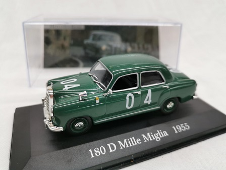 Mercedes-Benz 180D Mille Miglia 1955 #04 Groen 1:43 Altaya Mercedes Collection