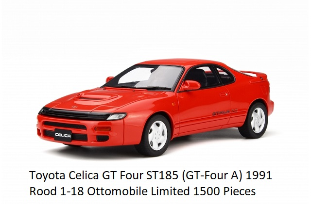 Toyota Celica GT Four ST185 (GT-Four A) 1991 Rood 1-18 Ottomobile Limited 1500 Pieces