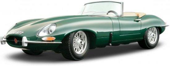 Jaguar E Type Cabrio 1961 Groen 1-18 Burago