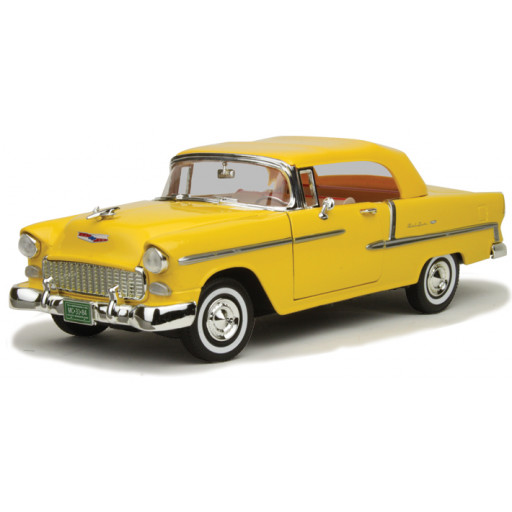 Chevrolet Bel Air 1955 Convertible Geel 1-18 Motormax