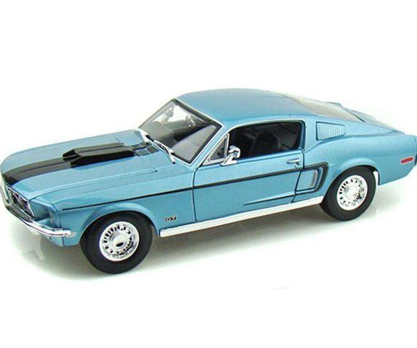 Ford Mustang GT Cobra Jet 1968 Blauw 1:18 Maisto
