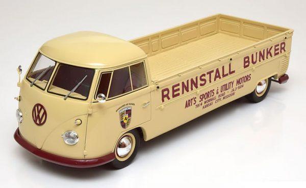 Volkswagen T1 Bus Pick up Lang Rennstall Bunker - Premium ClassiXXs - Schaal 1/18 Limited 500 Pieces