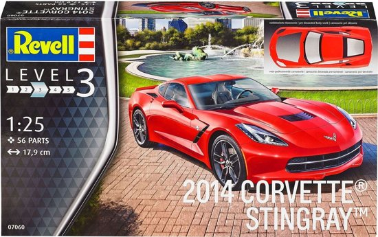 Chevrolet Corvette Stingray C7 2014 1:25 Bouwdoos Revell
