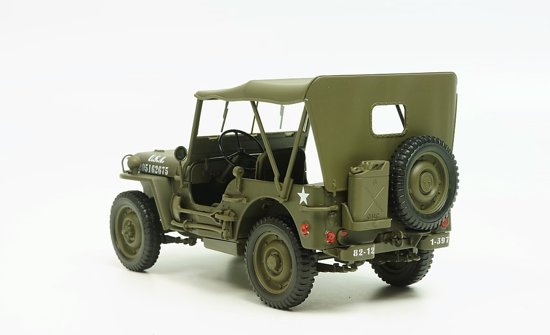 Willy's Jeep Army ( Gesloten) 1941 Groen 1/18 Welly