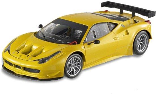 Ferrari 458 Italia GT2 1:18 Geel Hotwheels