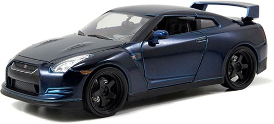 "Nissan Skyline GT-R (R35) 2009 Brian's ""Fast and Furious' Blauw 1:24 Jada Toys"