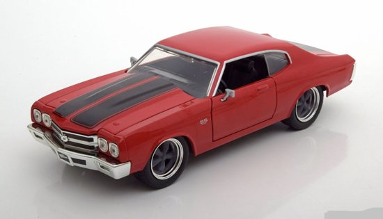 "Chevrolet Chevelle SS Dom's ""Fast and Furious"" Rood 1-24 Jada Toys"