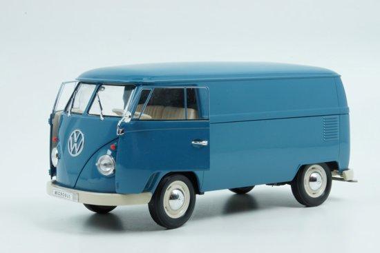 Volkswagen T1 Microbus 1963 Blauw 1:18 Welly