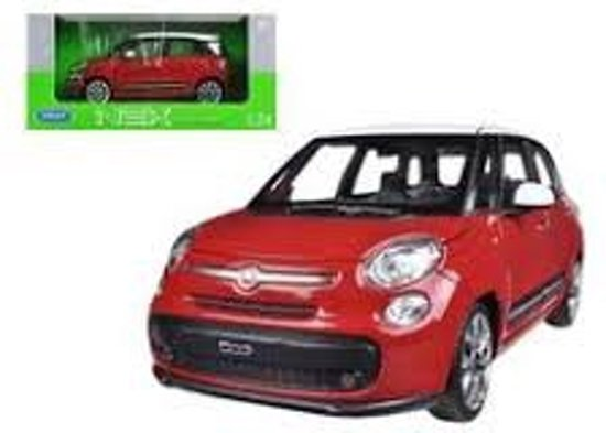 Fiat 500L 2013 Rood 1-24 Welly