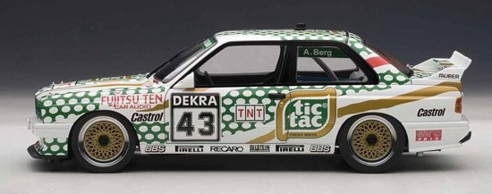 "BMW M3 DTM 1991 #43 ""Tic Tac"" A.Berg 1:18 Autoart"