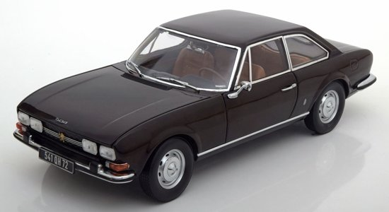 Peugeot 504 Coupe 1973 1:18 Donkerbruin metallic Norev