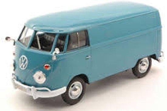Volkswagen Type 2 ( T1 ) Delivery Van Blauw 1-24 Motormax