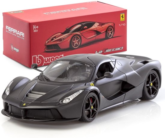 "Ferrari ""LaFerrari"" 2013 Matt Black 1:18 Burago Signature Series"